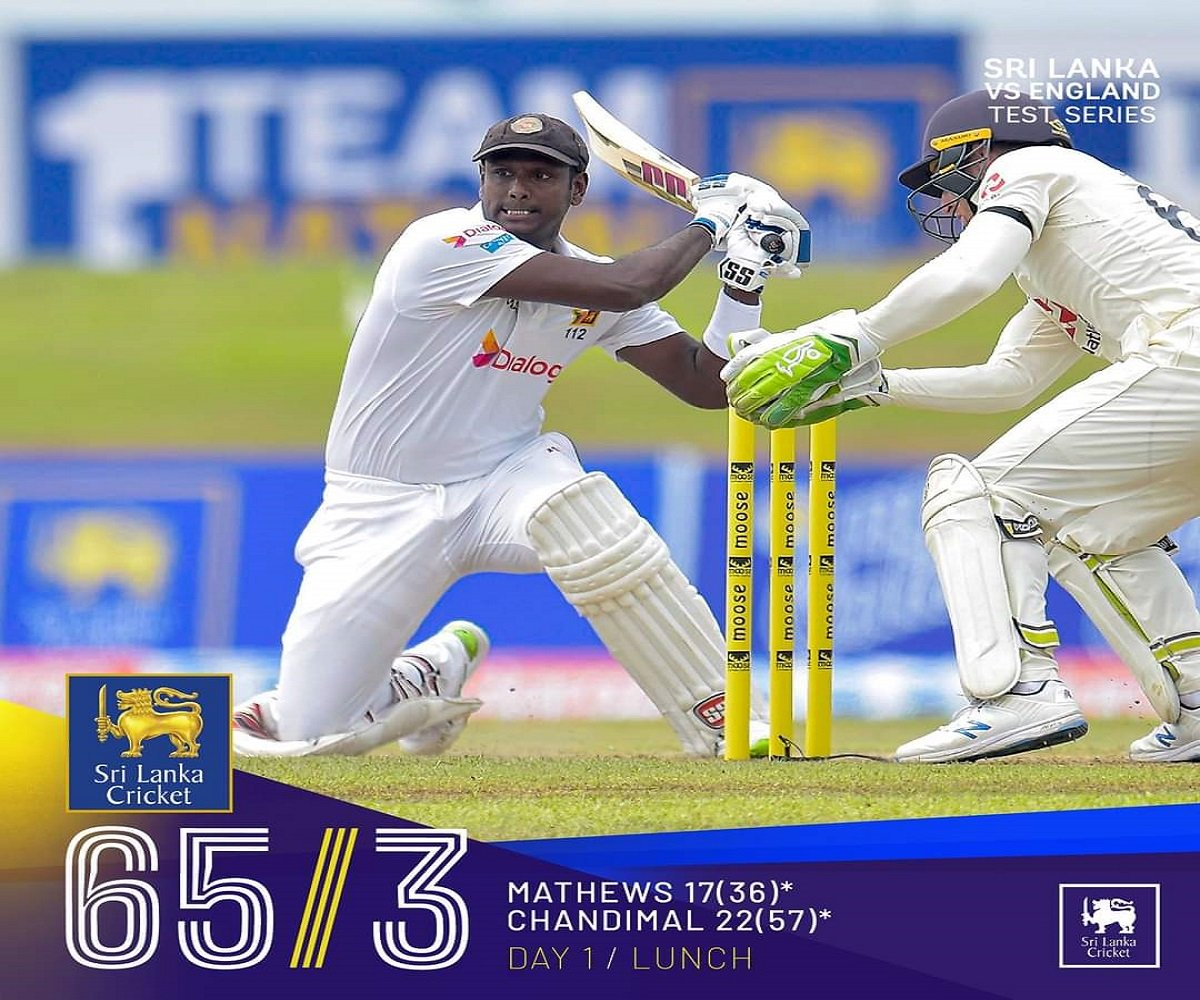 SL vs ENG 1st Test: Broad-led attack rattles Lankans batting attack, Sri Lanka 65/3 at Lunch Break