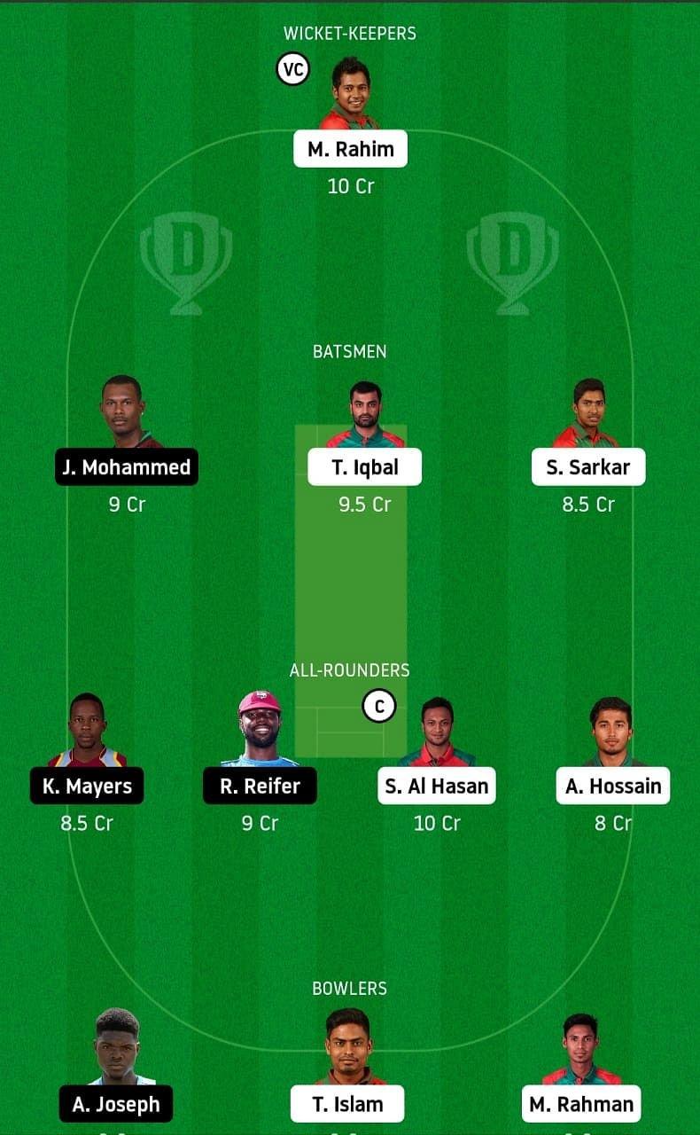BAN vs WI My Dream11 Team