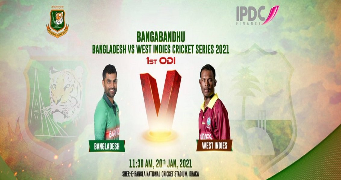 BAN vs WI 1st ODI:Mohammed's newly side is heading for big battle against Bengal Tigers