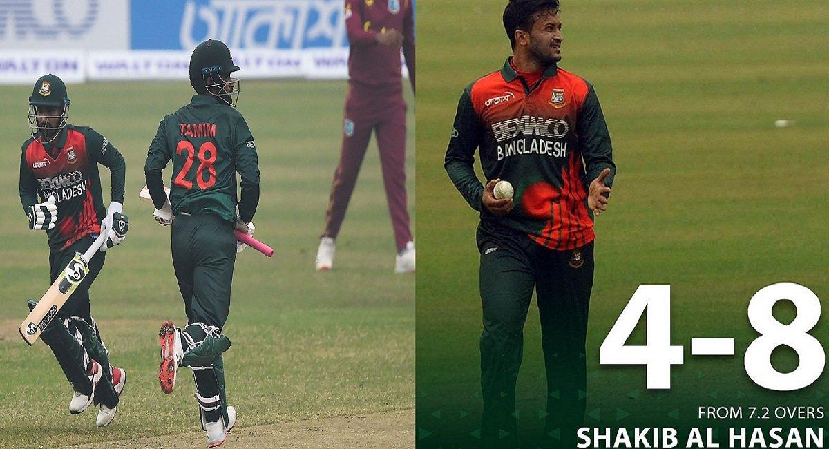 BAN vs WI 1st ODI Highlights: Shakib shines as Bangladesh thrashes Windies in a one-sider