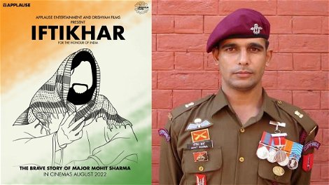 'Iftikhar' to be made by Drishyam Films & Applause Entertainment in the memory of Major Mohit Sharma