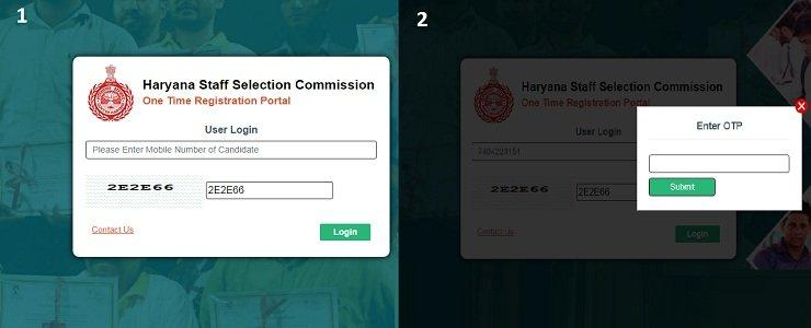 Haryana HSSC Online Time Registration Portal