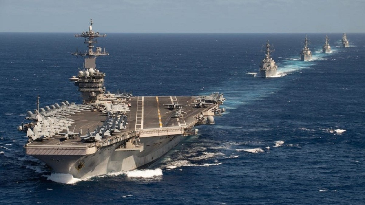 US Navy's Theodore Roosevelt of 7th Fleet entered the South China Sea to conduct routine operations