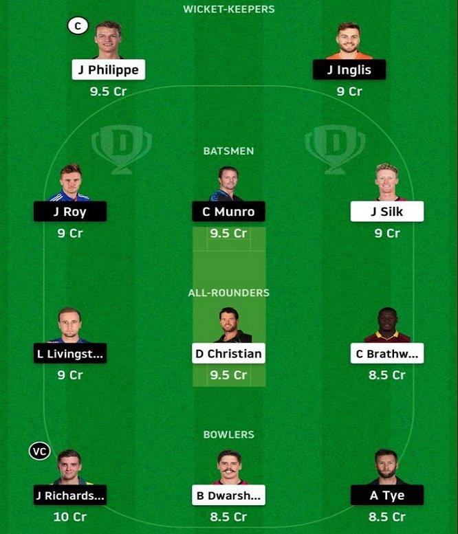 SYS vs PRS My Dream11 Team