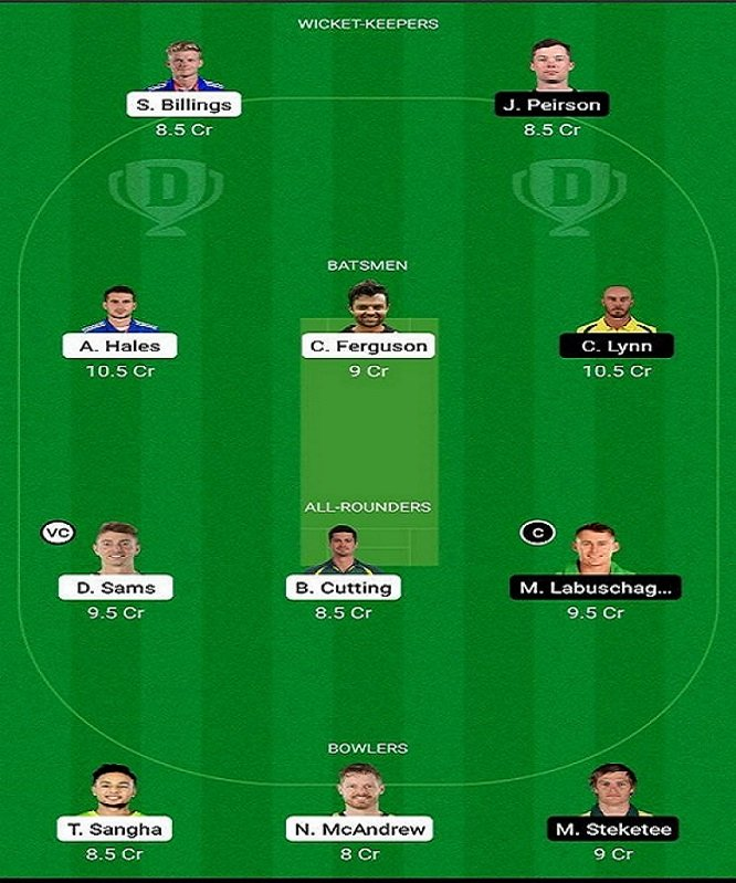 SYT vs BRH My Dream11 Team