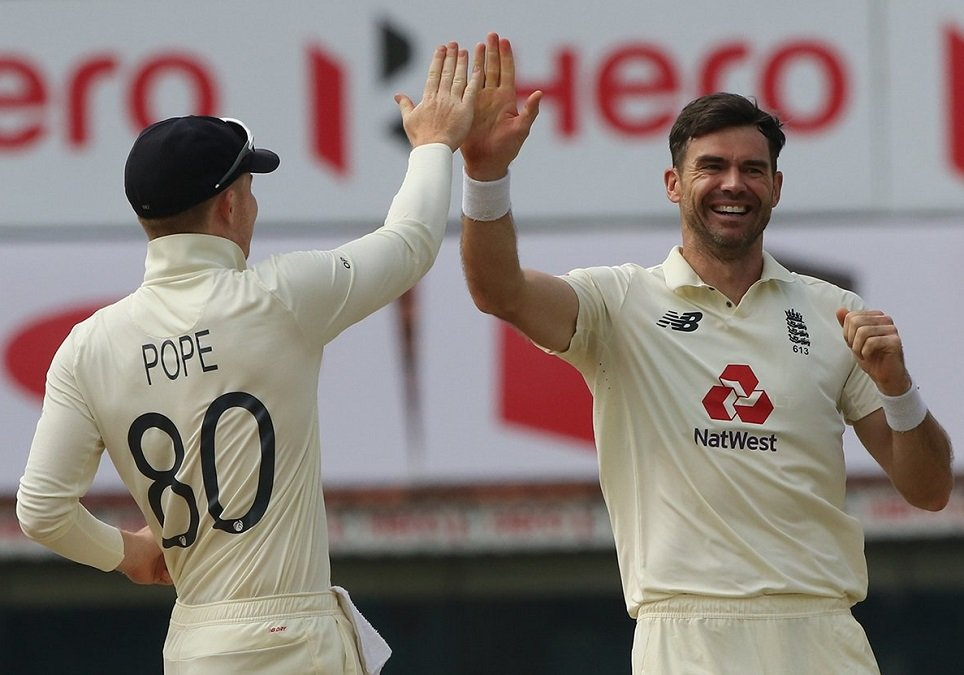 James Anderson nip Gill and Rahane's Stumps flying in massive run-chase, Watch
