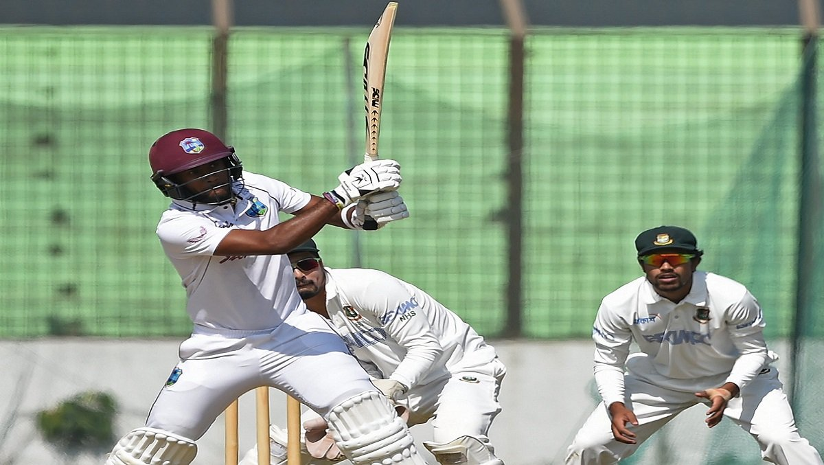 BAN vs WI 2nd Test: Brathwaite & Campbell set platform for the visitors, WI are 98/2 on Day 1