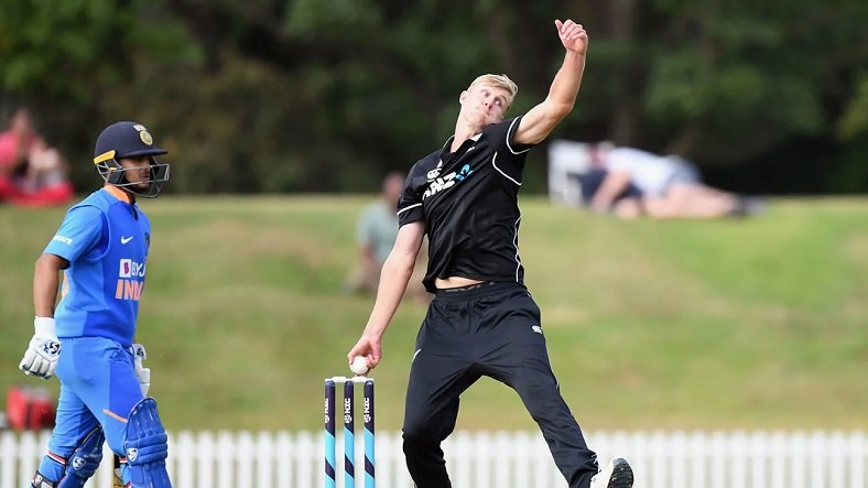 Kyle Jamieson against India (Getty images)