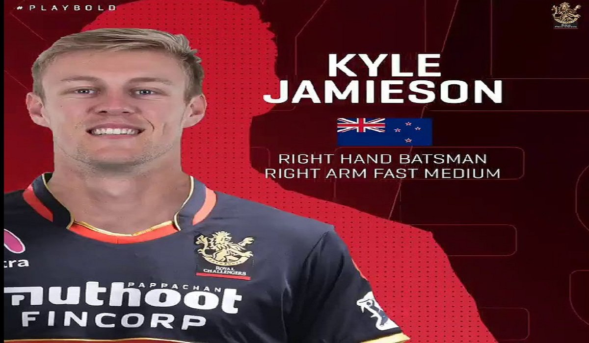 New Zealand's pacer Kyle Jamieson Sold to Virat Kohli's Men in Red for INR 15 cr