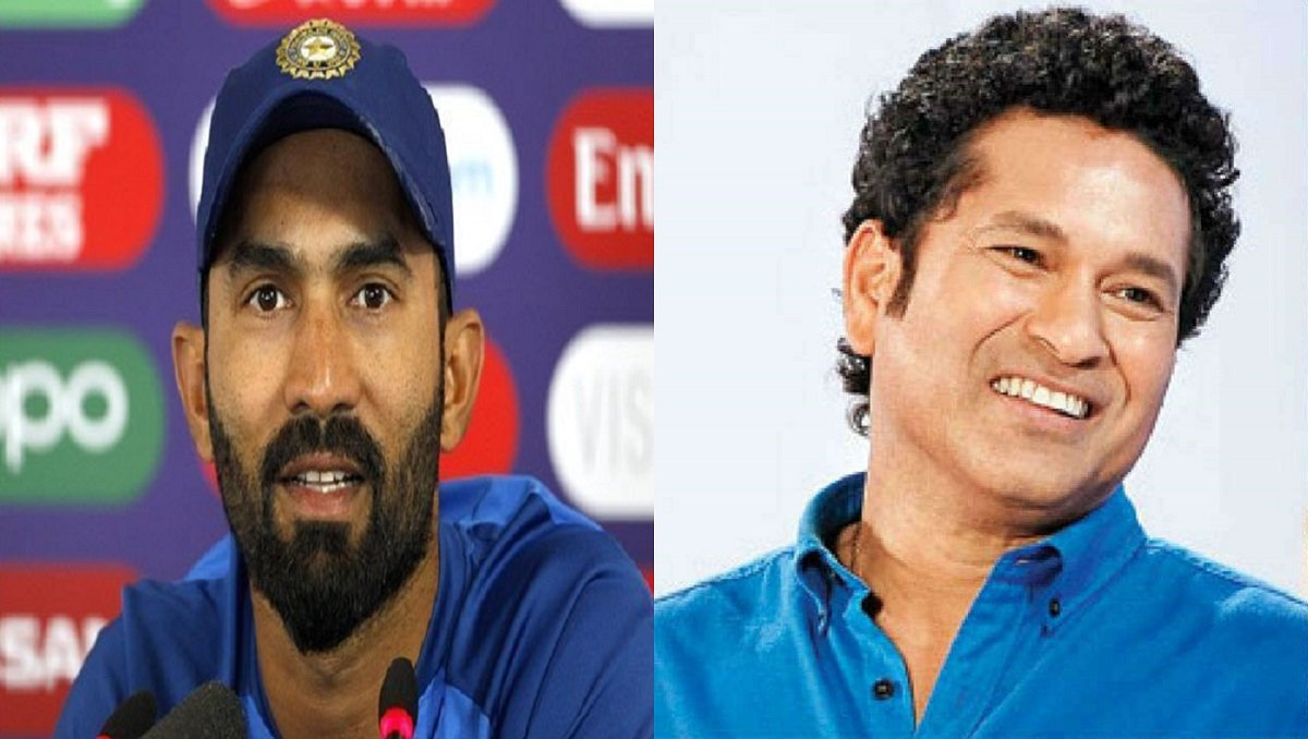 Karthik took Twitter to reply Tendulkar's 100 MB in context with Indian Players at IPL 2021