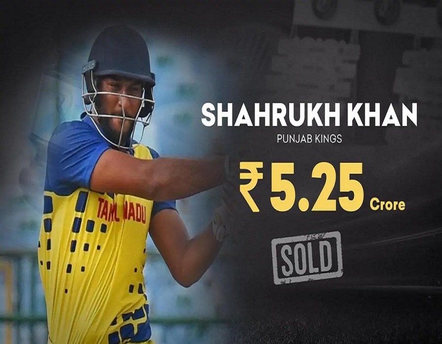 SRK goes to Punjab Kings for 5.25 cr. (Getty Images)