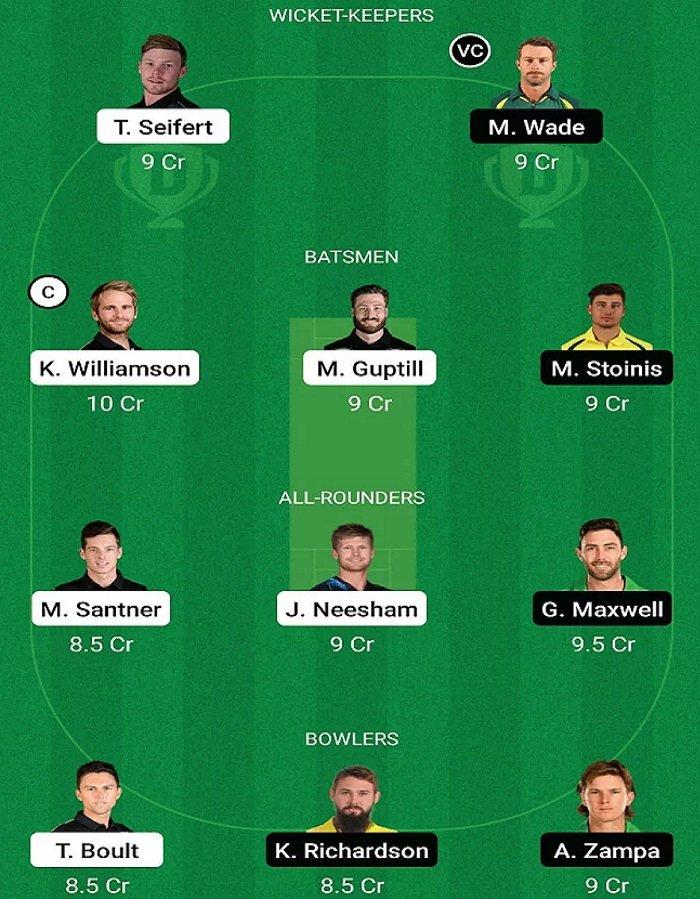 NZ vs AUS 1st T20 My Dream Team