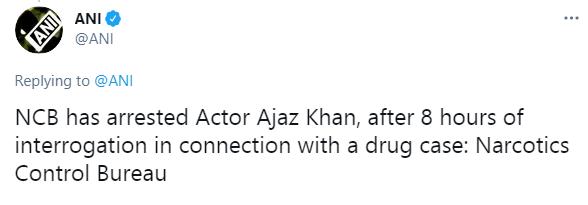 Bollywood actor Ajaz Khan arrested by NCB in Drug Case