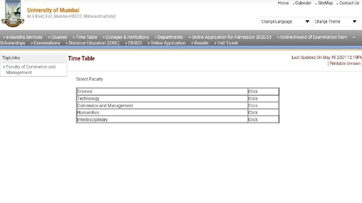 MU Summer Exams 2021 Date Sheet Released for UG, PG Courses at mum.digitaluniversity.ac