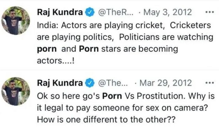Raj Kundra Controversial Tweets