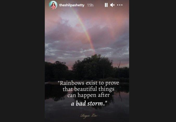 Shilpa Shetty Instagram Story