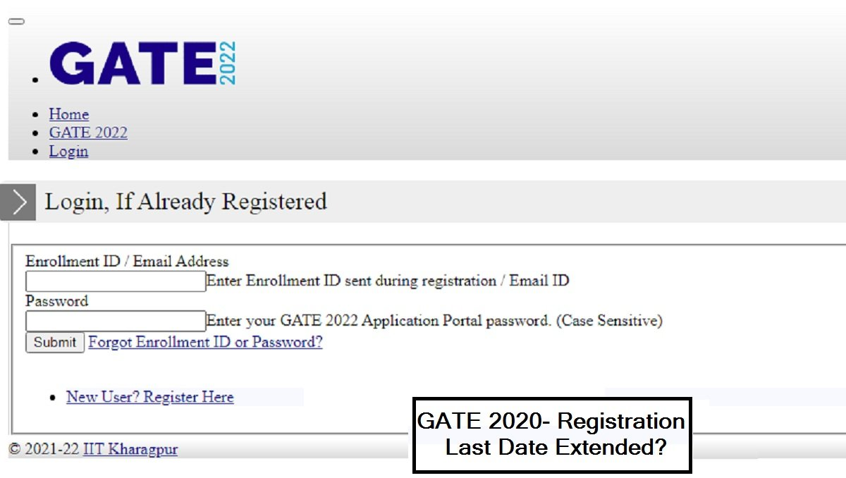 GATE 2022 Registration Last Date Extended, Site Goes Down, Know All Possibilities