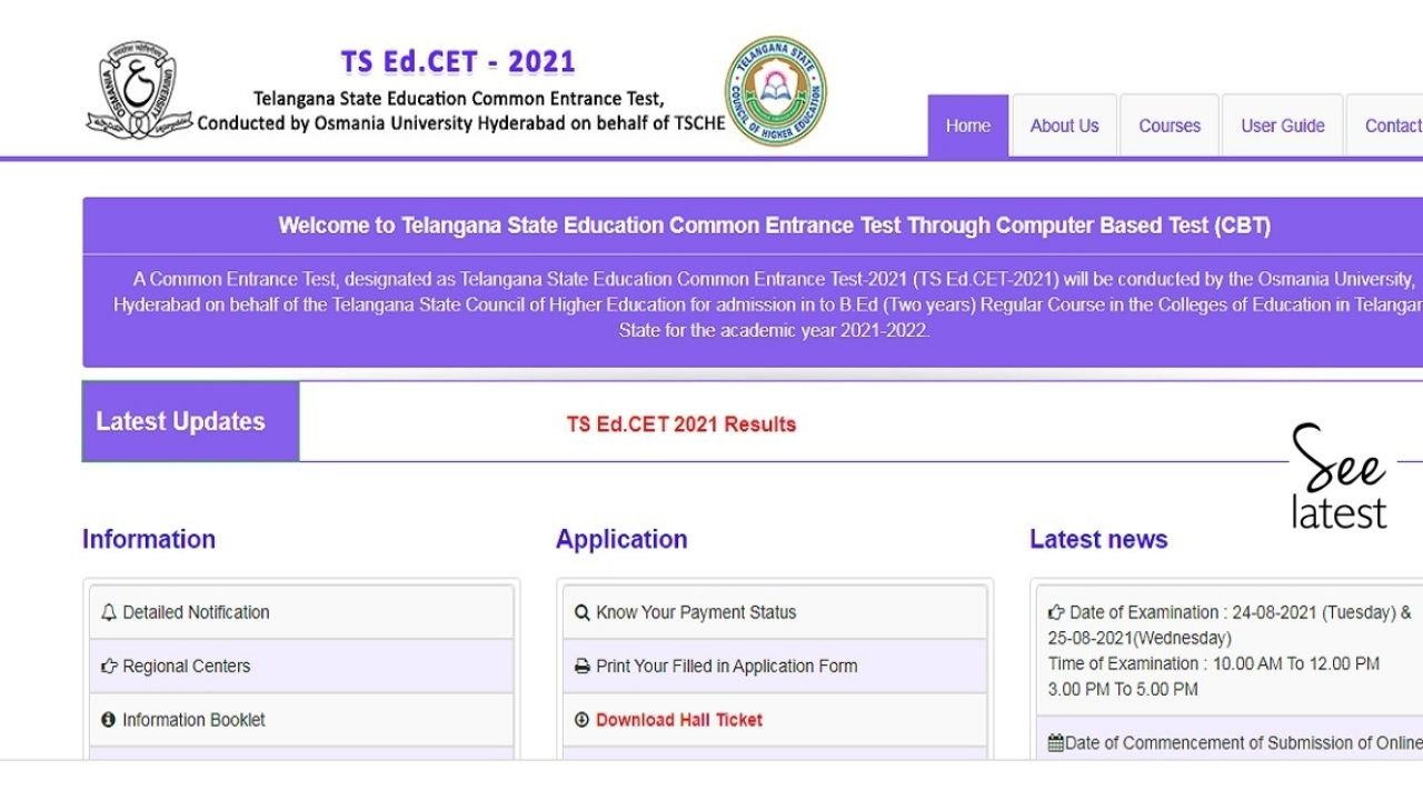 TS EdCET Result 2021 Out at edcet.tsche.ac.in; Direct Link to Check Rank List Here
