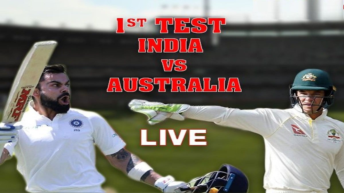 AUS vs IND 1st Day/Night Test Highlights: India at 154/3, skipper Kohli & Rahane still on the crease