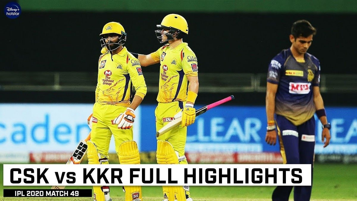 CSK vs KKR Match Highlights: Chennai Super Kings dents Knight Riders' playoff hopes in a last-ball thriller