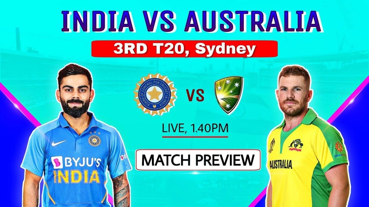 IND vs AUS 3rd T20: Today's Match Preview, Pitch Report, Playing 11 Updates, and Live streaming