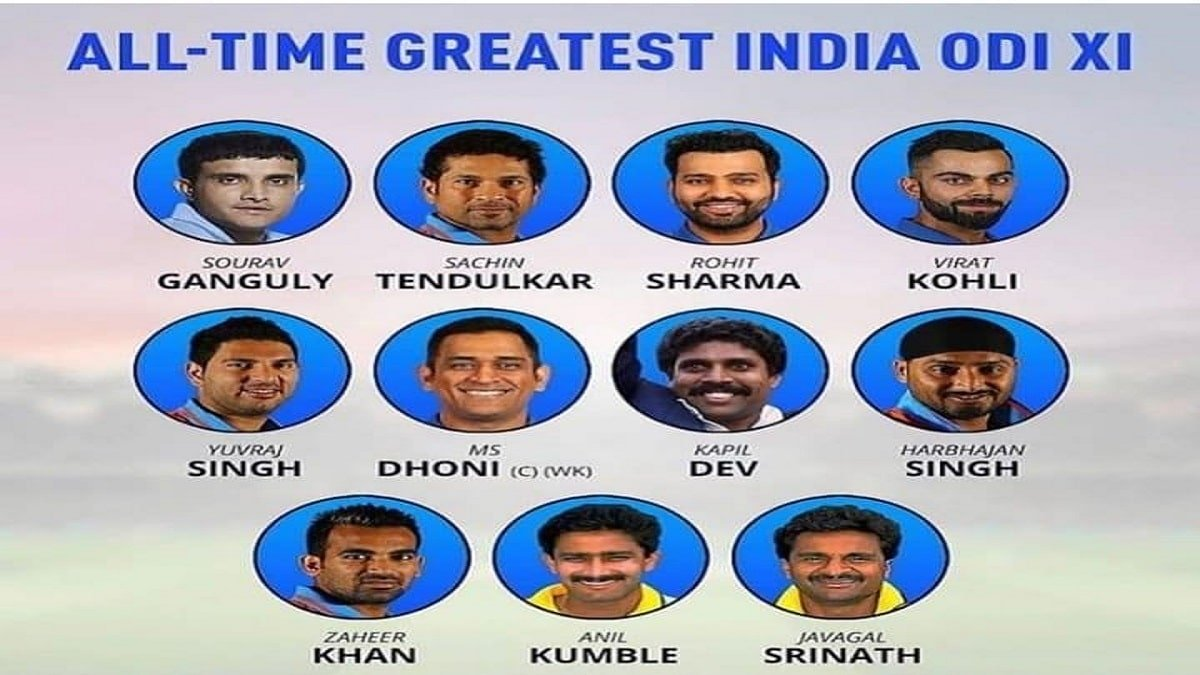 India's All Time Greatest ODI XI, No place for Sehwag and Raina