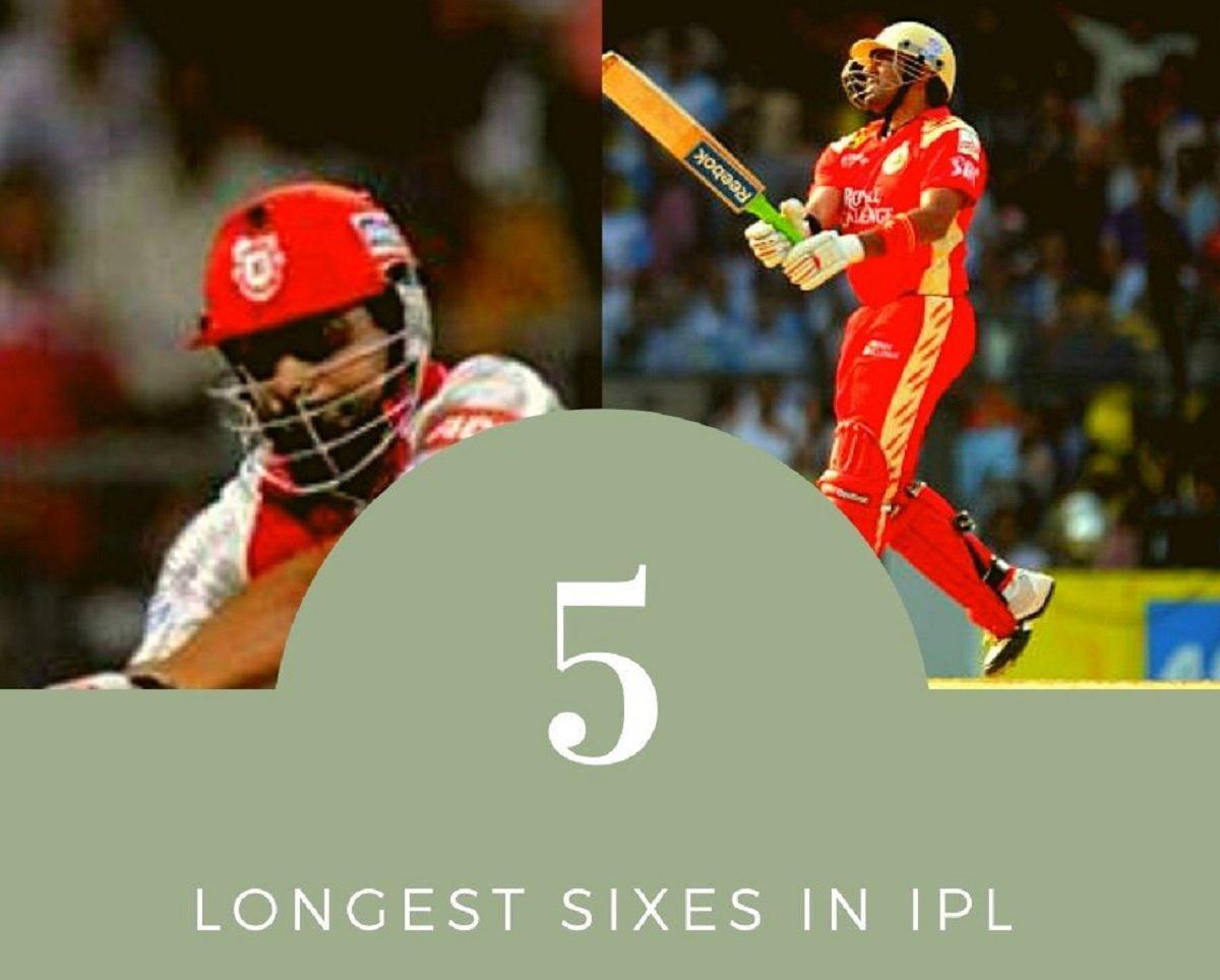 IPL History: Top 5 Longest sixes in Indian Premier League!
