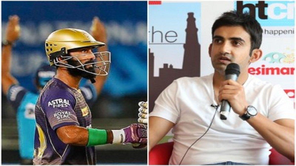 KKR vs CSK IPL 2020: Former KKR captain Gautam Gambhir revealed that Karthik should not bat ahead of Morgan and Russell