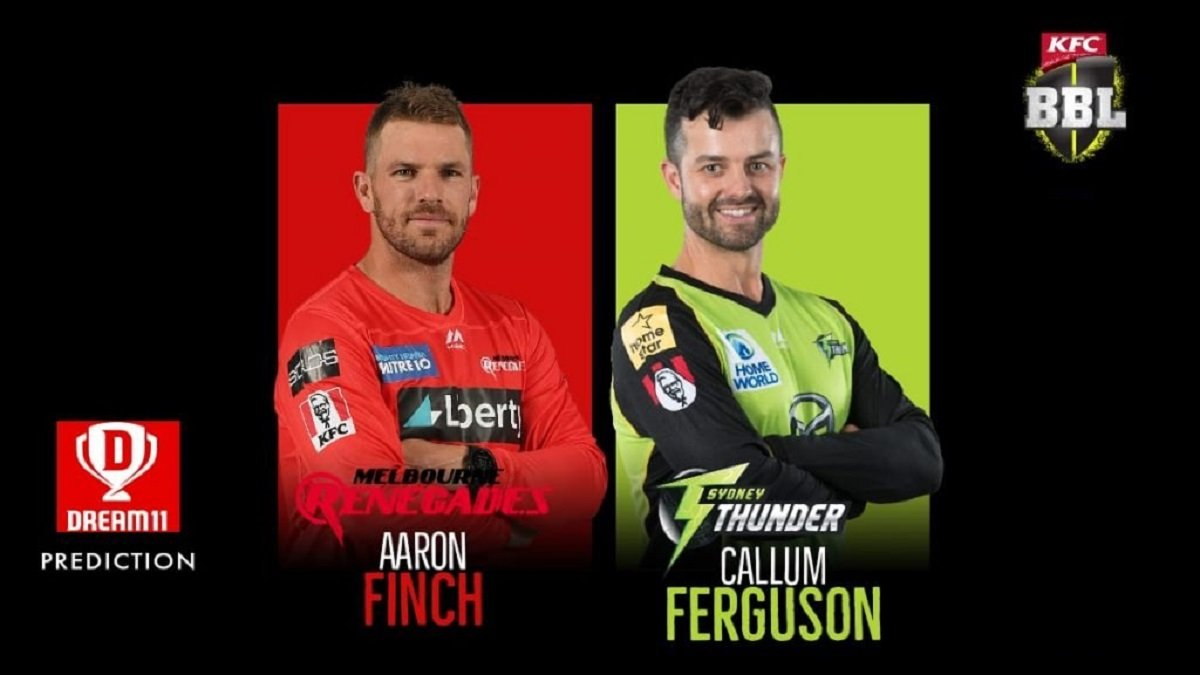 Melbourne Renegades vsSydney Thunder Dream11 Prediction and Fantasy Tips for Today's BBL Match 22