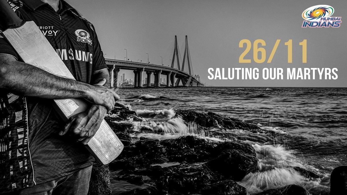 Mumbai Indians pay tribute to martyrs on the 12th anniversary of 26/11 Mumbai attack