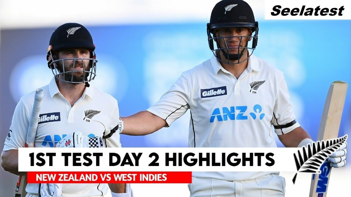 NZ vs WI 1st Test Day 2 Highlights: Williamson's double ton takes Black Caps past 500-run mark, WI starts steady