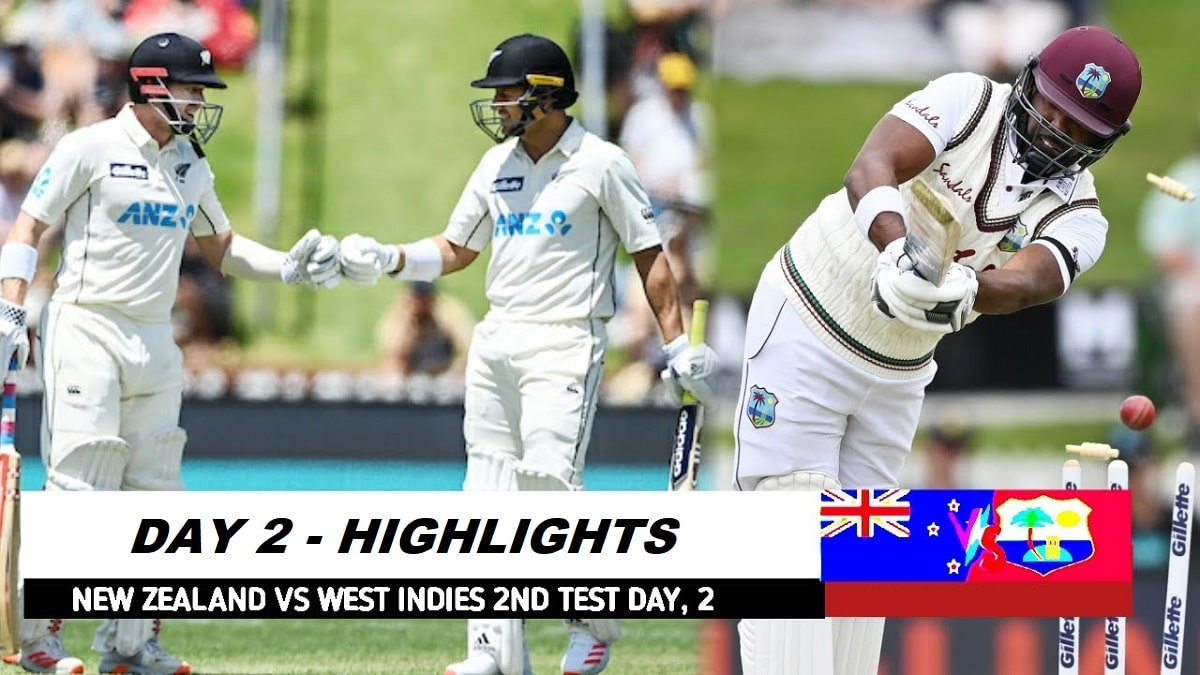 NZ vs WI 2nd Test Day 2 Highlights: Nicholls and Jamieson put the Kiwis on Top on Day 2