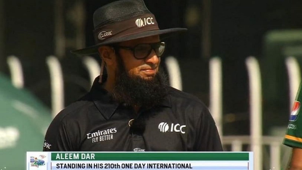 Pakistan Cricket Umpire Aleem Dar breaks record for most no. of ODIs as an umpire