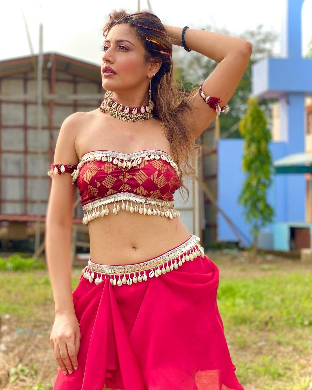 Surbhi Chandna looks stunning in a short whtie dress