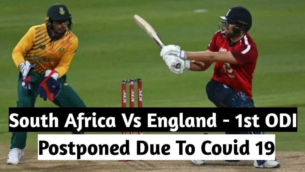 RSA vs ENG 1st ODI postponed after a South Africa player tested COVID-19 positive