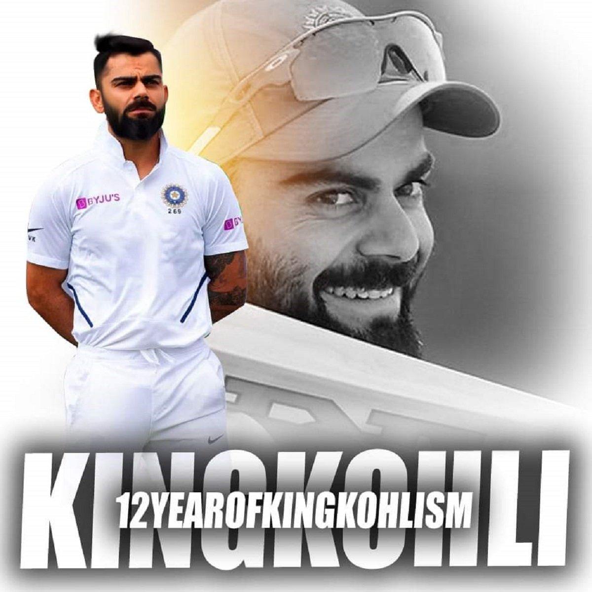 Virat Kohli completes 12 years in international cricket